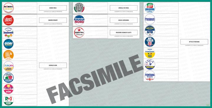 Scheda Elezioni Regionali 2018 Lombardia
